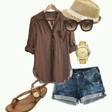 brown blouse blouse brown brown blouse oversized sandals shorts