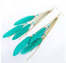 feather earrings online india indian feather earrings owl jewelry ethnic boho earrings