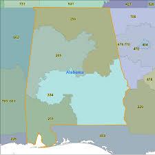 Map Alabama Alabama Area Code Maps Alabama Telephone Area Code Maps Free