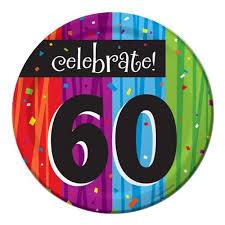 milestone celebrations 60th birthday cake plates party supplies