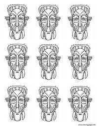 coloring pages african mask countries u003e africa free printable