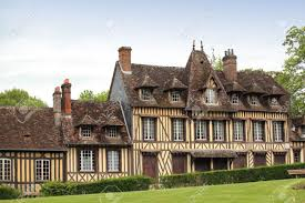 great and ancient house in normandy france stock photo picture