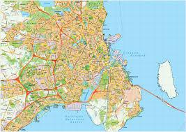 map of copenhagen copenhague vector maps illustrator freehand eps