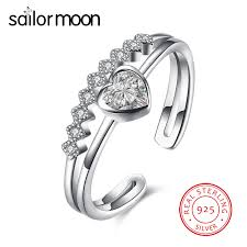 sted rings sailor moon original authentic real silver wedding ring women