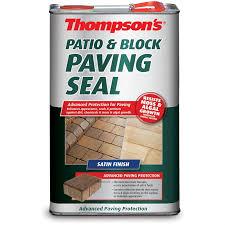 Homebase Patio Thompsons Patio And Block Paving Seal Satin 5l At Homebase Co Uk