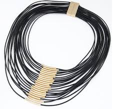 multi rope necklace images Fashion cool black multi layer rope choker necklace wholesale jpg