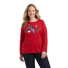 holiday editions women u0027s plus christmas t shirt happy holidays