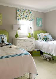 u0027s rooms gray walls green lamps green headboards twin beds