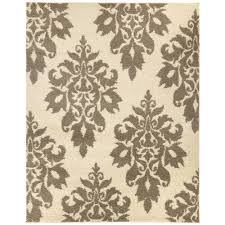 home decorators area rugs home decorators collection meadow damask ivory 7 ft 10 in x 10 ft