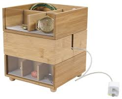 Desk Valet Charging Station Stackable Bamboo Valet Contemporary Dresser Valets And
