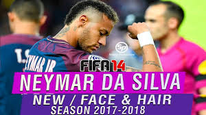 fifa 14 all hairstyles new face hair neymar jr 2017 2018 fifa 14 pc youtube