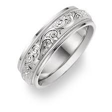 Platinum Wedding Rings by Paisley Platinum Wedding Band