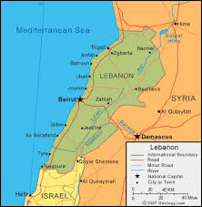 lebanon on the map lebanon map and satellite image