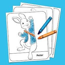 peter rabbit coloring pack nickelodeon parents