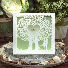 Mint Wedding Invitations Mint Green Love Tree Wedding Invitations High Quality Hollow Lace