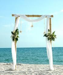 Bamboo Wedding Arch Premier Beach Décor Florida Weddings