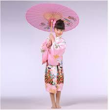 pink japanese baby silk kimono dress traditional children