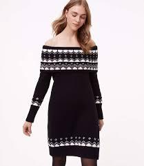 fair isle sweater dress fairisle the shoulder sweater dress loft