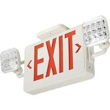 exit emergency light combo emergency lighting exit signs sign light combo units
