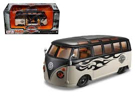 volkswagen new van harley davidson custom volkswagen van samba maisto car model 1 25