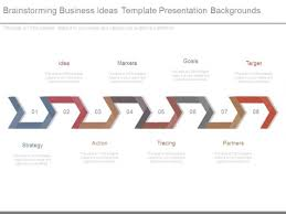 brainstorming business ideas template presentation backgrounds