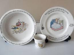 rabbit wedgwood vintage wedgwood rabbit child s bowl plate egg cup ebay