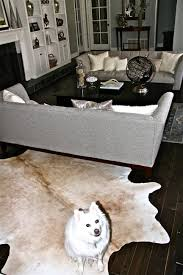 faux cowhide rug brown and white photos hgtvd29 41 astonishing