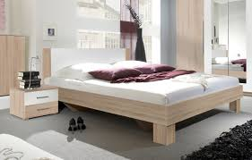 Schlafzimmer Komplett Eiche Sonoma Bett Doppelbett Ehebett Bettkasten 160x200cm Sonoma Eiche Hell