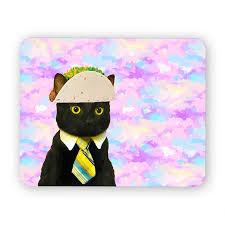Meme Mouse Pad - taco cat funny desk mouse pad meme mouse pad comptuer