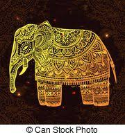 eps vector of vintage indian elephant vintage elephant