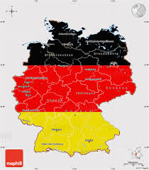 Map Of Germany Cities by Flag Map Of Germany