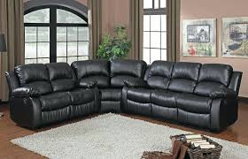 Sectional Reclining Sofa With Chaise Sectional Homelegance Black Leather Reclining Sectional Sofa