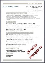 11 Exemple De Cv 3eme Au Lycée Cv Pour Les Stages Bac Pro