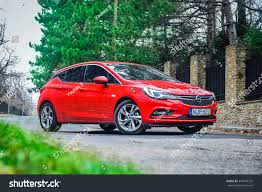 opel red budapest hungary november 27 2015 2016 stock photo 344749325