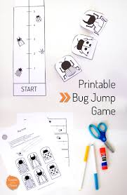printable bug jump game bug activities printable crafts