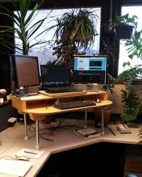Build A Wooden Computer Desk by Build Your Own Stand Up Desk The Easiest And Cheapest Way To Get