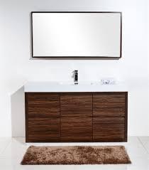 Walnut Bathroom Vanity 60 Single Sink Floor Moun Walnut Bathroom Vanity