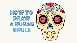 how to draw a sugar skull easy by drawing tutorial