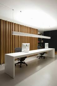 apartments luxury modern office space ideas with white long