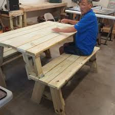 knock down picnic table plans picnic table and bench combo plan rockler woodworking and hardware