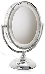 8x lighted vanity mirror amazon com jerdon hl958c 8 inch oval halo lighted vanity mirror