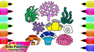 kids painting coloring pages how to draw and coloring marine