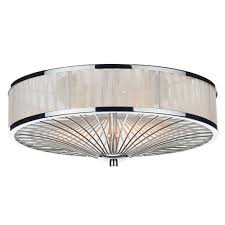 Flush Ceiling Light Fixtures Dar Lighting Oslo Flush Ceiling Light In White Fitting Type From