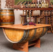 Wine Coffee Table Creative Style Barrel Coffee Table Design Trends4us