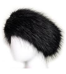 winter headbands unisex faux fur headband earwarmer earmuff ski hat black at