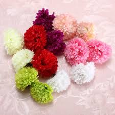 silk flowers bulk 10pcs artificial flower silk spherical heads bulk home