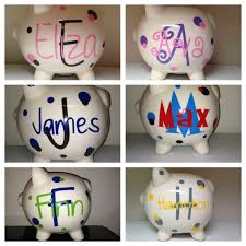 personalized baby piggy banks personalized piggy bank baby shower gift expectant new