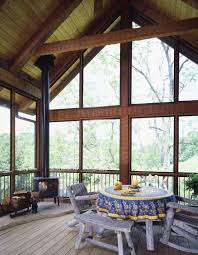 Patio Screen Frame Screen Porch With Wood Stove Google Search New Home Ideas