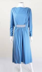 1940s dresses 1940 s vintage doree leventhal mid blue draped evening dress