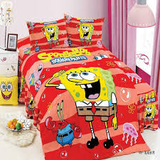 Spongebob Bedding Sets Shabby Lined Spongebob Bedding Set Beside White